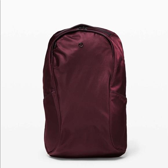 Lululemon Out of Range Backpack- Black Cherry